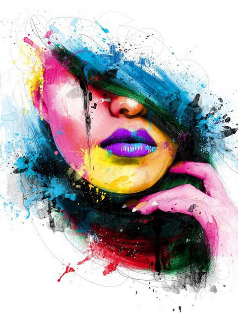 Colorful abstraction of a woman