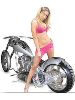 Girl in pink and silver bike