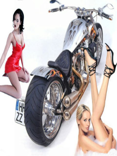 Hot women and a bike