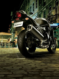 Motorcycle in night city