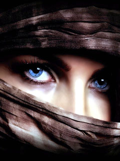 Gaze from a burqa