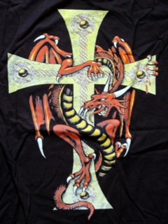Cross and dragon