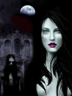 Beautiful vampire girl