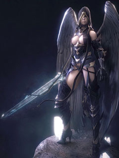 Black Angel with a sword