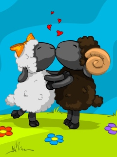 Kissing lambs
