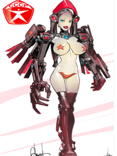Sexy USSR robot