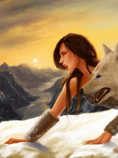 Wolf and wolf queen
