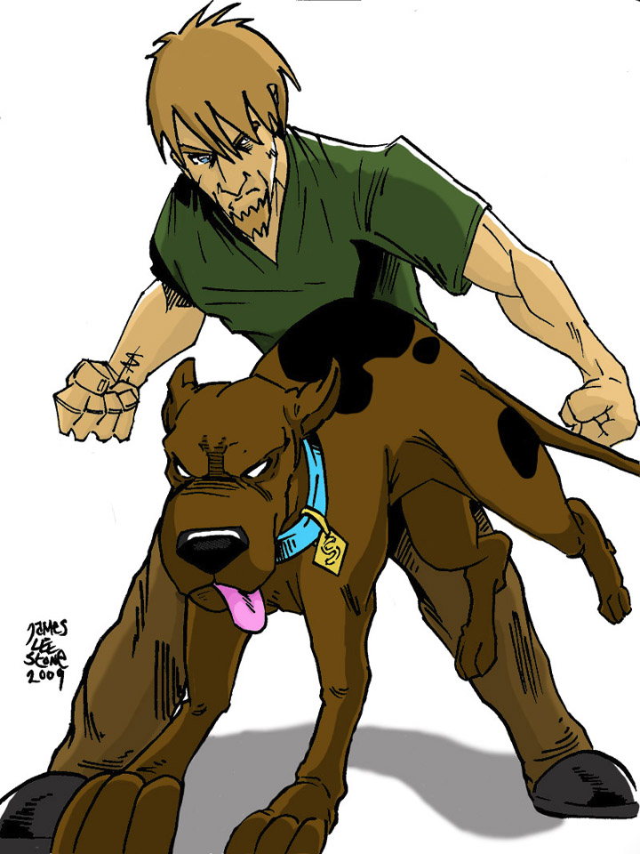 Evil Shaggy and Scooby