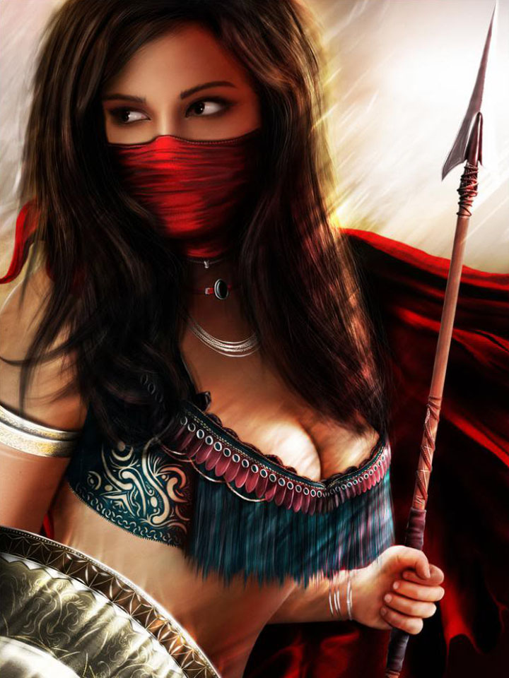 Persian female warrior