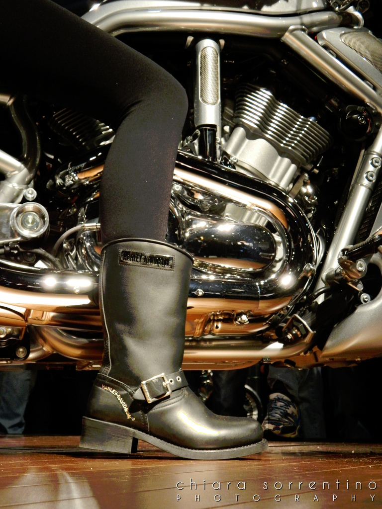 Girl's biker boot and bike