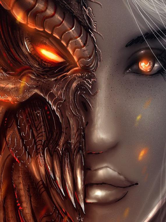 Демон девушки картинки