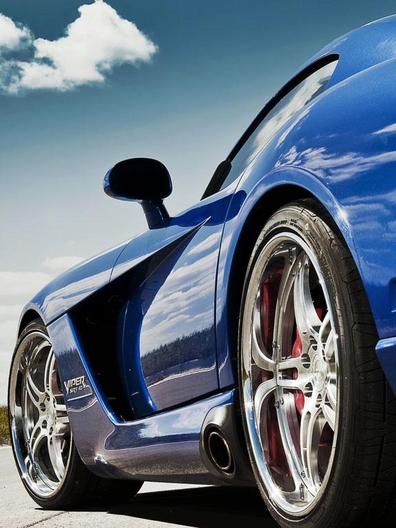 Скачать картинку Синий авто с боку бесплатно