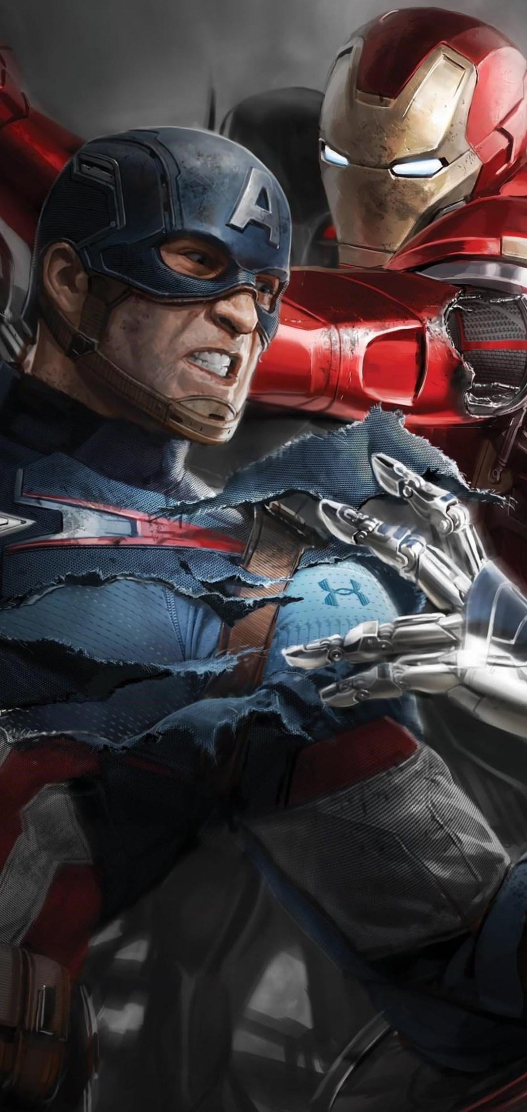 Скачать картинку Железный человек и Капитан Америка (битва ...