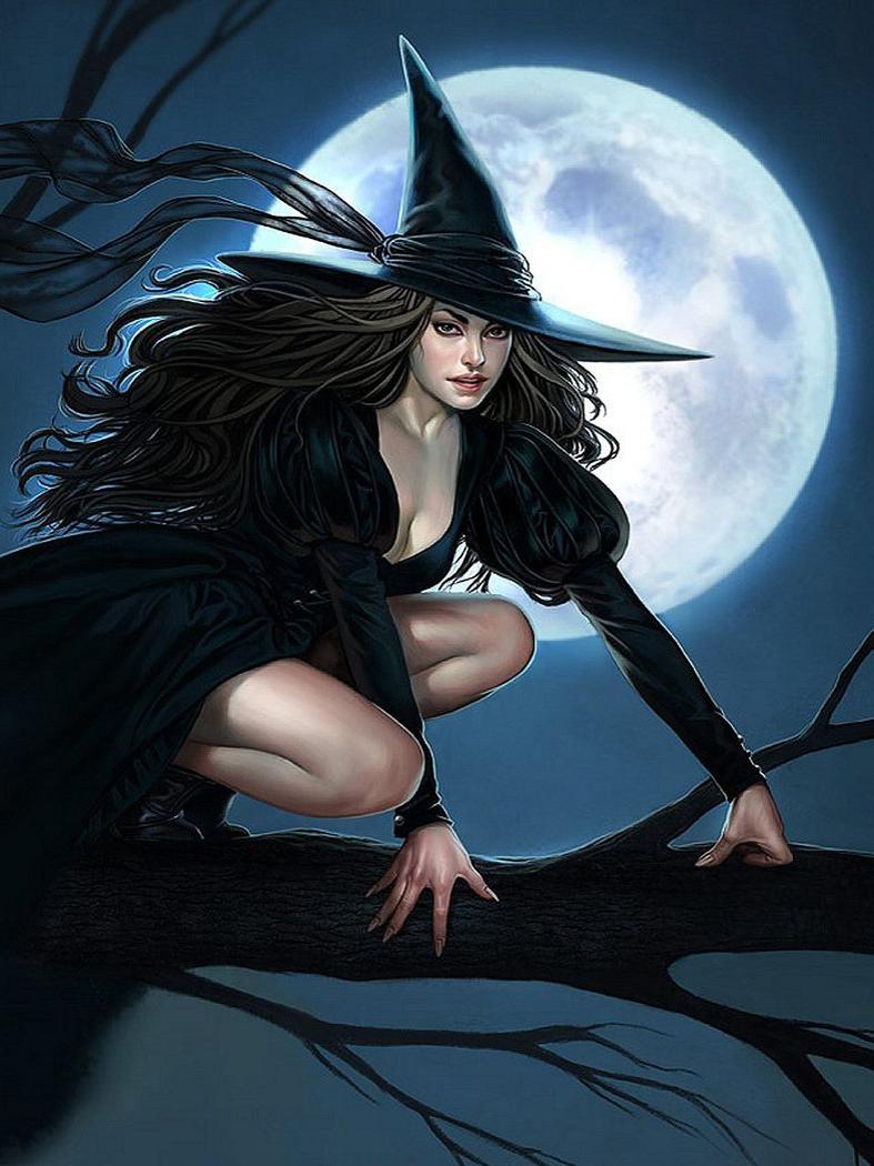 картинки в виде ведьмы всё-таки