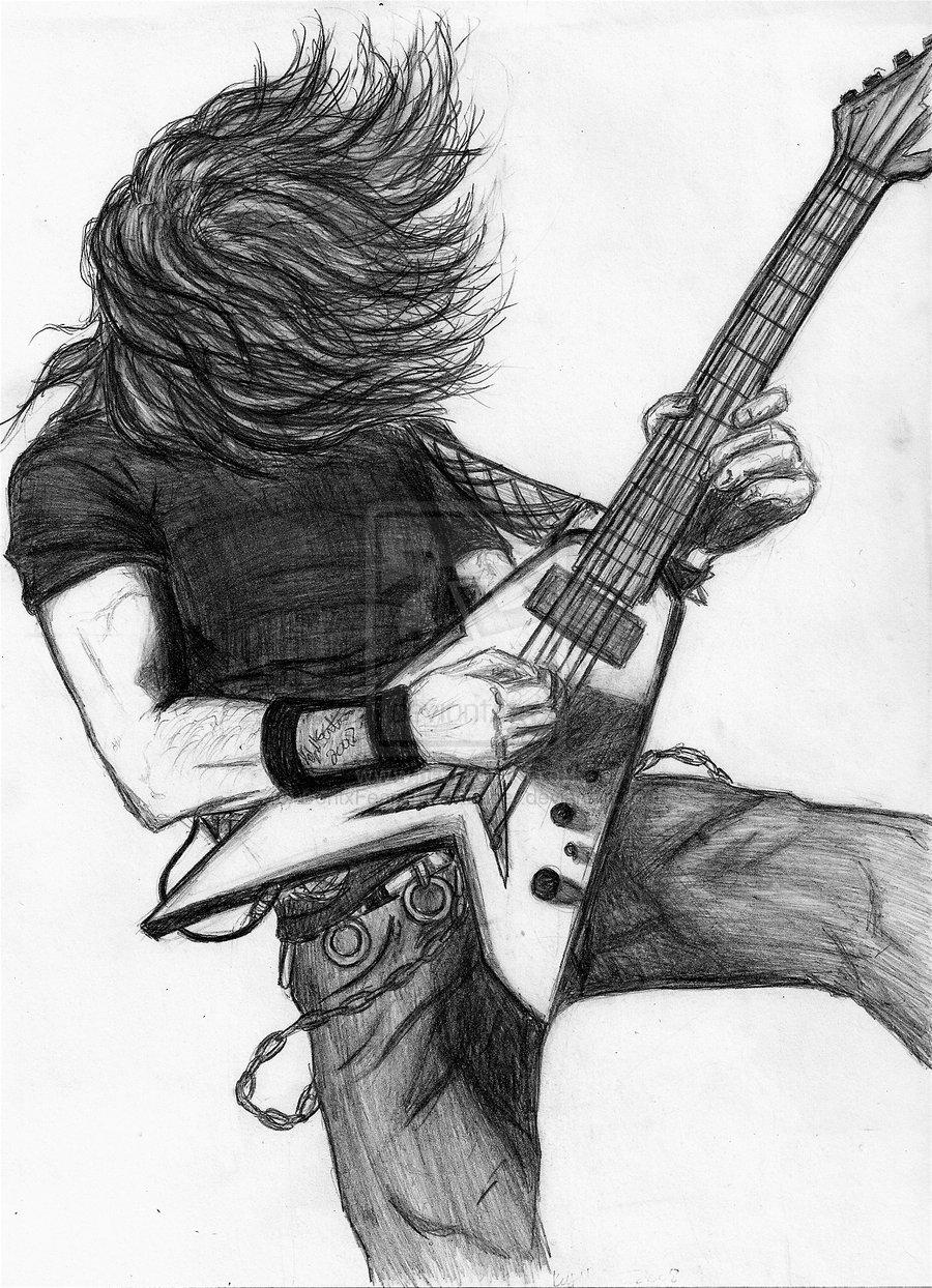 картинки гитарист рисунок рассказал