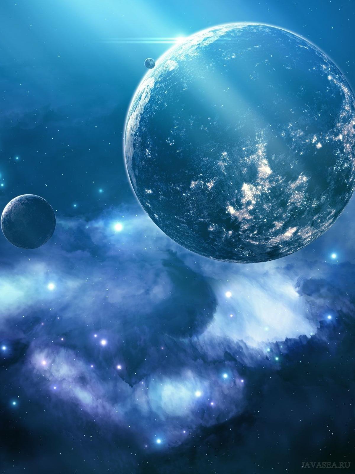Скачать картинку Синий космос бесплатно
