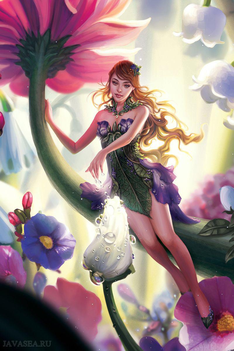 Картинки фей и цветов