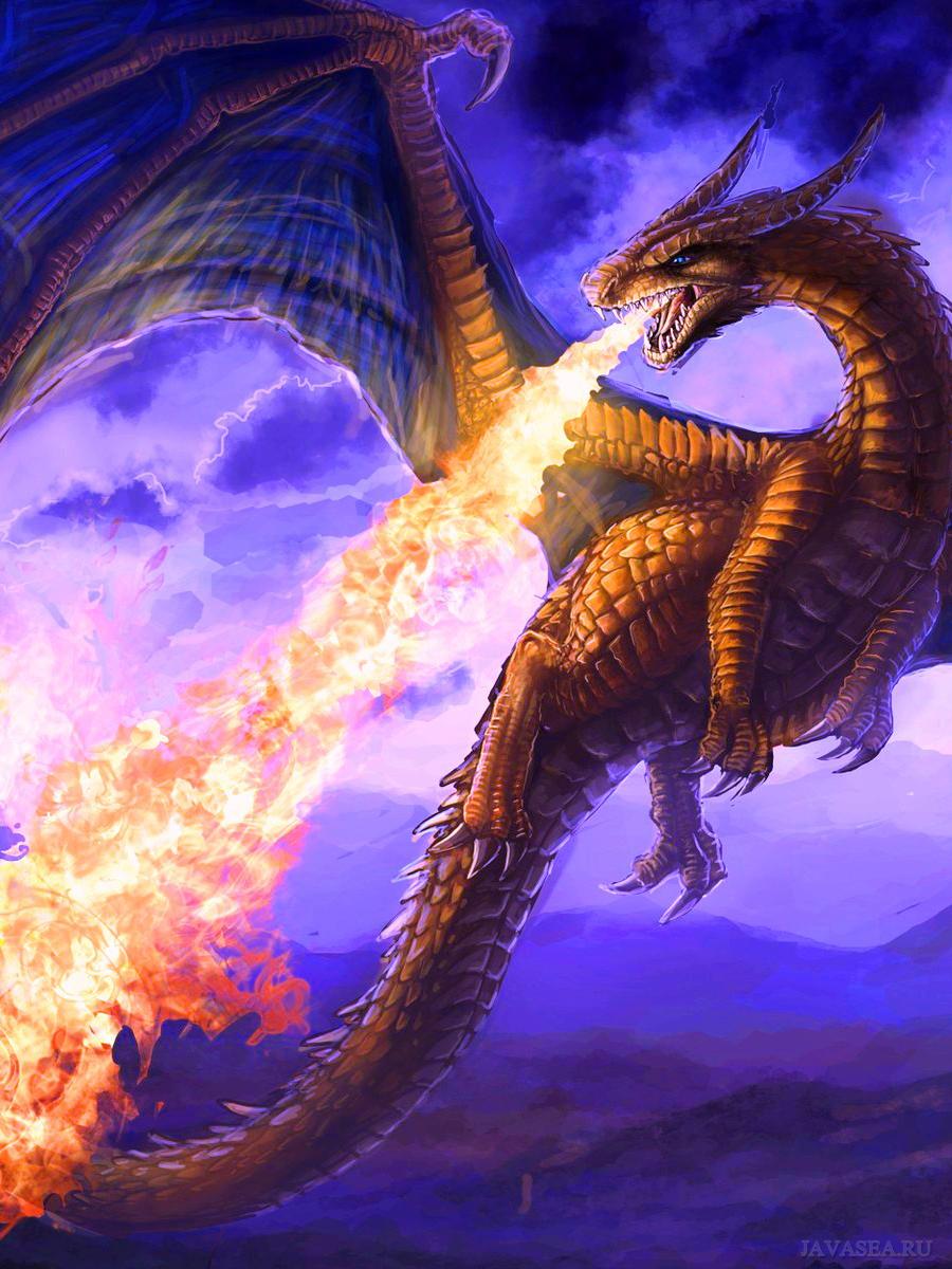другу картинки с драконами порадовала
